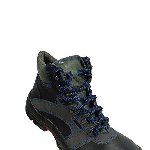 Lupos xL - 21 s3 berufsschuhe businessschuhe chaussures de chaussures de sécurité chaussures de travail noir Noir - Noir