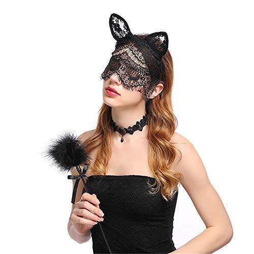 Kopfbedeckung für Katzen, Kopfbedeckung, Kopfbedeckung, Maske, Schleier, Halloween, Party, Dekoration für Nachtclubs, Halloween, Weihnachten, Cosplay
