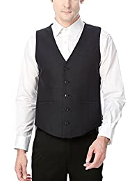 Peter England Men's Slim Fit Blazer_ PWC51505725_38_ Black