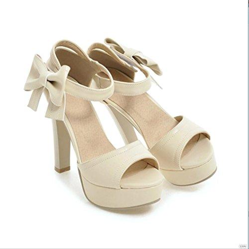 Sproud Fashion Sexy Wasserdicht High Heels Sandaletten Weibliche Bögen Koreanisch Prinzessinnen Und Sommer Schuhe 35 An