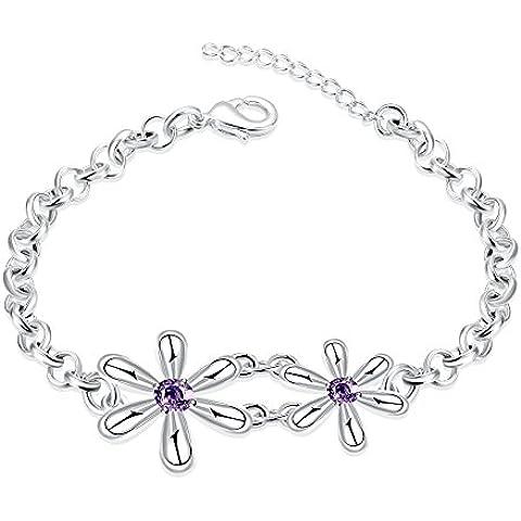 Faysting EU gioielli donna braccialetti bracciale fiore