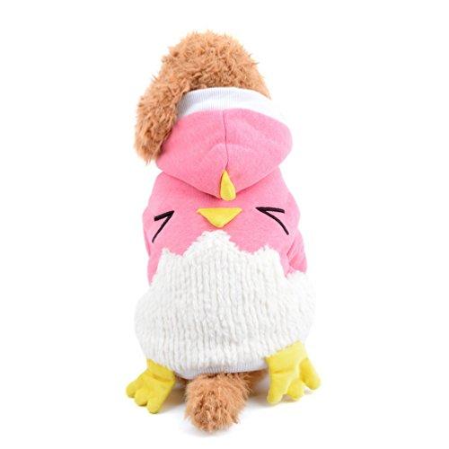 Cat Huhn Kostüm - smalllee _ Lucky _ store Huhn Pet Halloween-Kostüm Ostern Hundemantel Hoodies Chihuahua Kleidung Party Hund Kostüme Liebenswürdig, Katze Apparel Winter