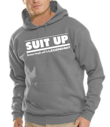 Touchlines Herren How I Met Your Mother - SUIT UP Kapuzen Sweatshirt B7088 steelgrey M Preisvergleich