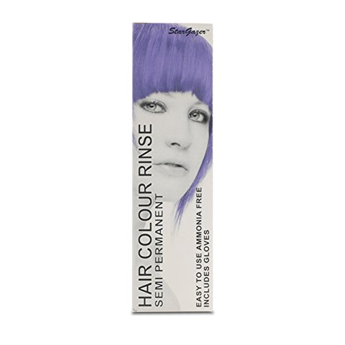 2 x Stargazer Semi Permanent Purple Hair Colour Dye - Light Blue Hair Dye