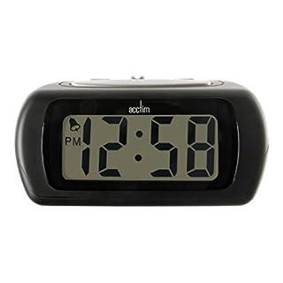 Acctim 12343 Auric Alarm Clock, Black