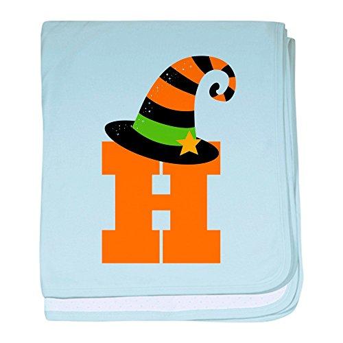 CafePress-Halloween Buchstabe H Hexe Monogramm-Baby Decke, Super Weich Für Neugeborene Wickeldecke himmelblau