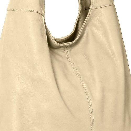 CASPAR Fashion, Borsa a spalla donna (Crema)