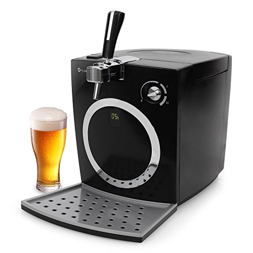 Klarstein Hopfenthal Tirador de cerveza • Dispesador regulable • Enfriador de jugo • Display LED • Barriles de 5L • Funcionamiento silencioso • Bombeo sin cartuchos de dióxido de carbono • Negro