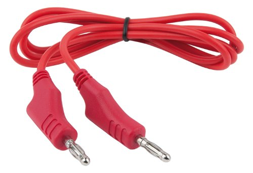 Doppel-isolierte Stecker (KS Tools 150.1667 Messleitungs-Verlängerung mit Doppel Stecker und zusätzlicher Buchse 1.100 mm (rot))