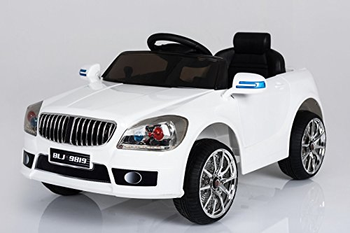 Toyas B-Sport Sportwagen Kinder Elektro Auto Kinderfahrzeug 25W Motor Weiß Neu (25w-motor)