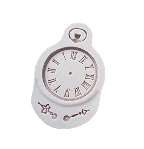 Fablcrew 1 Stück Kuchenform Silikonform Uhrwerk-Muster Grau Backwerkzeuge Fondantkuchenform Schokoladenform Plätzchenform Leicht zu reinigen 8.9 * 5.8 * 0.8cm