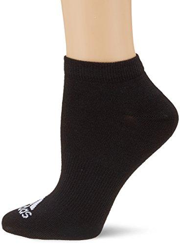 adidas Trainingssocken Performance extrakurze dünne 3 Paar, Schwarz, 35-38 (Adidas Socken Kinder)
