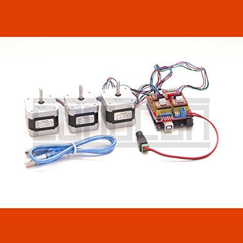 3D CNC USB Schrittmotor-Steuerung Dora UNO mit Software und 3 x NEMA 17 Motoren (1,7 A) -
