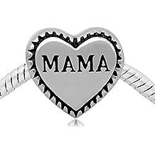 Cubos de cuentas acero inoxidable Mama cuenta para pulsera Pandora Troll Biagi Zable Chamilia y más por cubos de cuentas