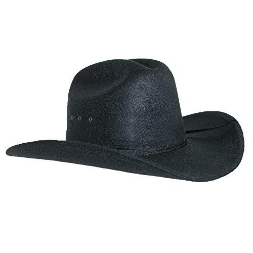 CTM - Chapeau western - Homme noir noir Taille unique Noir