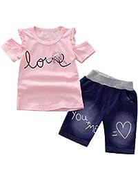 648027b49 Malloom Cómoda bebé Verano Chaleco + Pantalones Cortos Pantalones Ropa  Conjunto Top de Manga Corta sin