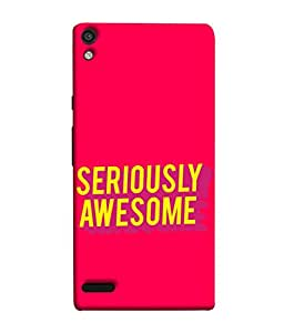 PrintVisa Designer Back Case Cover for Huawei Ascend P6 (Seriously Awesome Thoughts Wordings )
