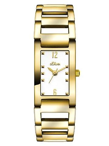 s.Oliver Damen-Armbanduhr XS Analog Quarz Edelstahl