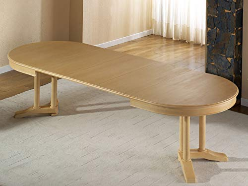 Soma Esstisch oval 160 x 110 cm Allegro mit Einlagen vergrößerbar Pinie massiv (BxHxL) 160 x 77 x 110 cm Pinie karamell