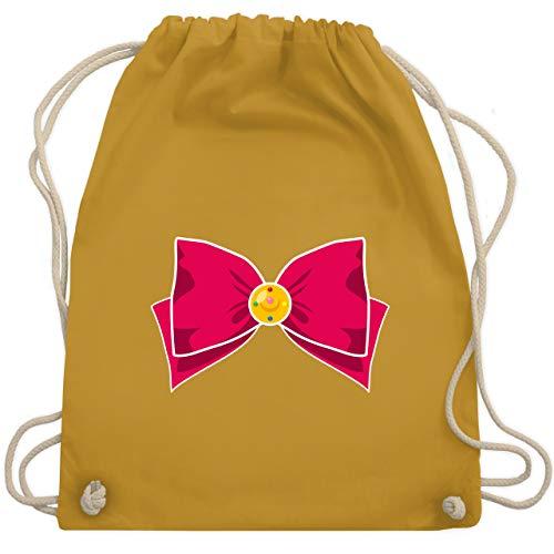 (Karneval & Fasching - Superheld Manga Moon Kostüm - Unisize - Senfgelb - WM110 - Turnbeutel & Gym Bag)