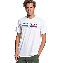 Quiksilver Get Bizzy Camiseta, Hombre, Blanco (White), XL