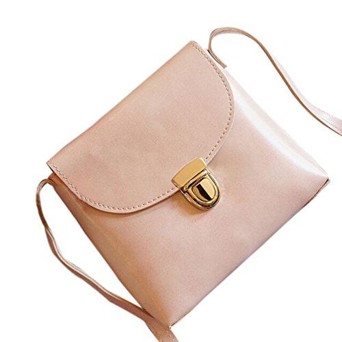 BZLine® Frauen Crossbody Messenger Telefon Münze Umhängetasche, 19cm *18cm *7cm Pink