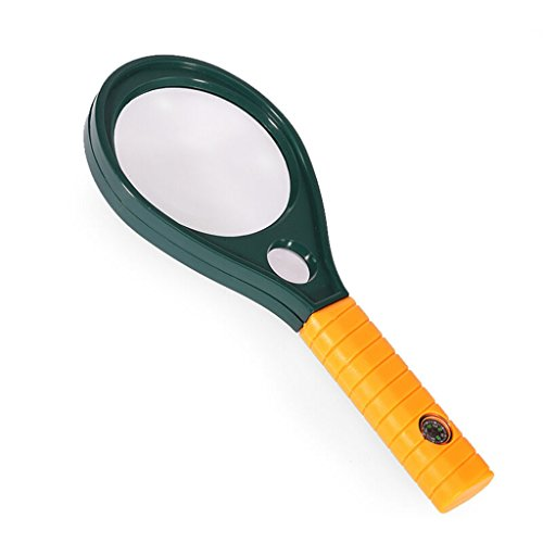 MAGFYLYDL Lupe Magnifier,Handlupe Für Kinder,Juwelier,Tragbare Lupe, Kompass Leselupe ABS-Schale Glaslinsen 180 * 75 * 12mm -