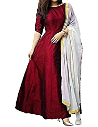 Royal Export Women's Taffeta Silk Party Wear Dress