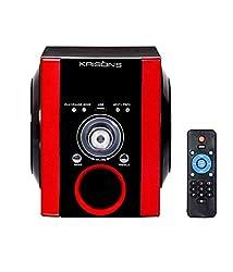Krisons AWONR003 Portable Multimedia Speaker,(Black,Red)
