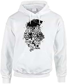 Sudadera de algodón con capucha y bolsillo grande de Juego de Tronos – Lannister