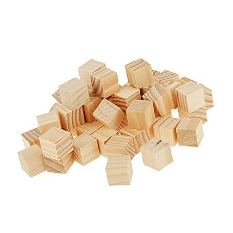 50 Holz Platz Scrabblefliesen Für Kunsthandwerk Holz 20 * 20mm