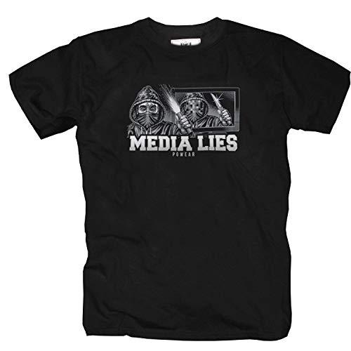 """PG Wear \""""Media Lies\"""" T-Shirt (XXL)"""