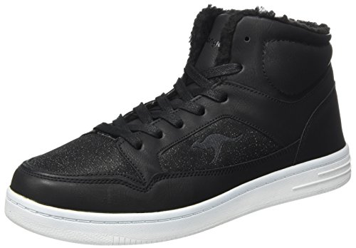 KangaROOS Unisex-Erwachsene K-Glitter Hohe Sneaker, Schwarz (Jet Black), 42 EU