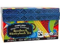 Trader Joe's Organic Fairtrade Rooibos & Honeybush Tea 20 bags (Pack of 2)