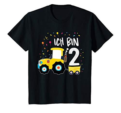 Kinder Traktor Shirt 2 Jahre Geburtstag Jungen Mädchen Trecker T-Shirt (Traktor 2. Shirt Geburtstag)