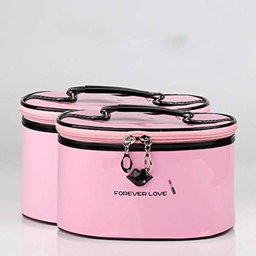 xueq-large-capacity-portable-cosmetic-bag-waterproof-portable-cosmetic-bag-pink-suit