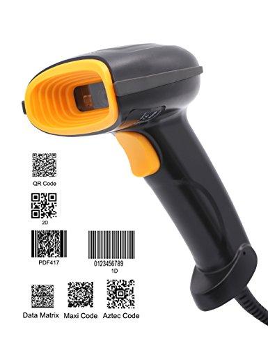 1D 2D CCD Barcodescanner Laser Ablesen Kabelgebunden USB Barcode Scanner Handscanner Code Bar Code 93 QR, Präzises und schnelles Lesen, IP54, Plug and Play (Rs-232-kabel-benutzerhandbuch)