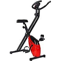 Preisvergleich für Merax® Heimtrainer klappbare F-Bike Ergometer Fitnessbike Hometrainer Fitnessfahrrad mit Handpulssensoren/Magnetwiderstand/ Trainingscomputer/LCD Display