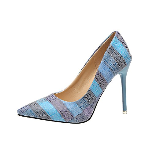 Lucky Mall Wilde Farbabgleichschuhe der Frauen-Mode, Flacher, Spitzer Mund High Heels Schuhe