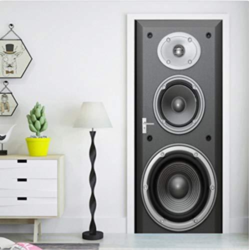 3D Große Lautsprecher Selbstklebende Wohnzimmer Durch Wandbilder Wandaufkleber Tapete 80X200Cm