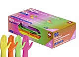 Style Tutti Frutti, 4 vers. Farben Nitril Handschuhe in einer Box Kinder Arzt Praxis (XS- extra small)