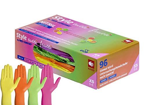 Style Tutti Frutti, 4VERS. Colores nitrilo Guantes