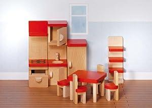 Goki 51718 Accesorio para casa de muñecas Juego de Muebles - Accesorios para Casas de muñecas (Juego de Muebles, Play Dollhouse, Madera,, 3 año(s), 480 g)