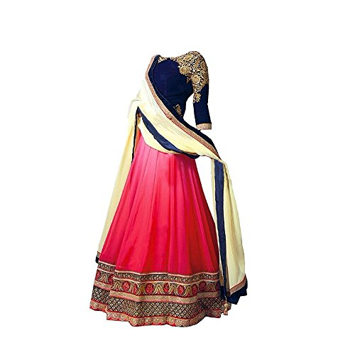 S R Fashion Girls Georgette Lehenga Choli (SRF_Girls_Lehenga Choli_541, Pink, 8 to...