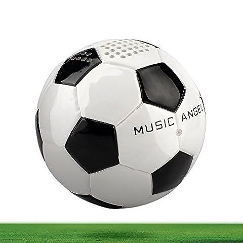 MUSIC ANGEL ® 15BT, tragbarer, kabelloser Bluetooth Lautsprecher 4.0 für Kinder und Jungen Fußball-Optik , 12 Stunden Laufzeit kompatibel mit iPhone, iPad, Android und Desktop-Geräte für Innen/Außen Blickfang