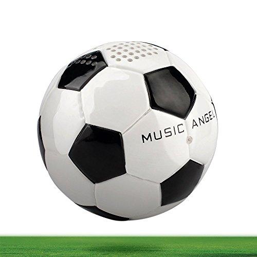 MUSIC ANGEL 15BT tragbarer kabelloser Bluetooth Lautsprecher 4.0 Fußball-Optik 12 Stunden Laufzeit kompatibel mit iPhone iPad Android und Desktop-Gerät für Innen/Augen Blickfang
