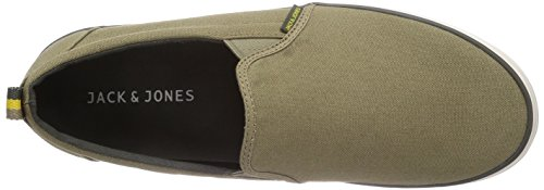 Jack & Jones - Mocassin En Toile Jjbrado Elmwood, Baskets Da Uomo Verde (elmwood)