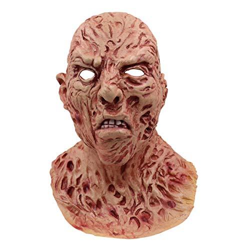 CHQPT Neue Latex Gummi Gruselig Schrecklich Gesicht Maske Kopfmaske Furchtbar für Halloween Weihnachten Kostüm Party Halloween (Läuft Kostüm Weihnachten)