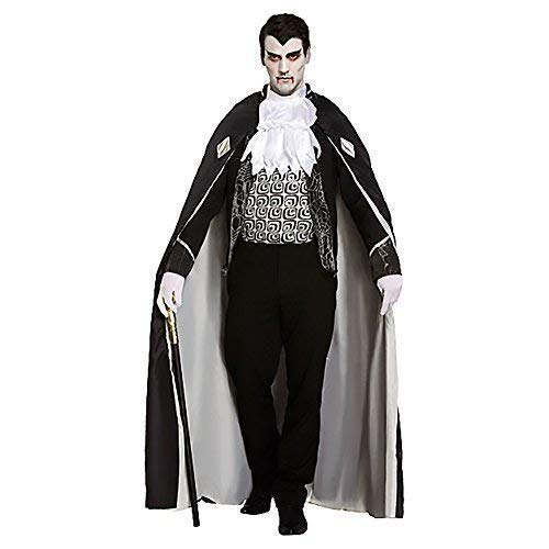 Fancy Me 4 Stück Luxus Herren Schwarz Grau Toter Zombie Vampir Graf Dracula Halloween Kostüm Kleid Outfit
