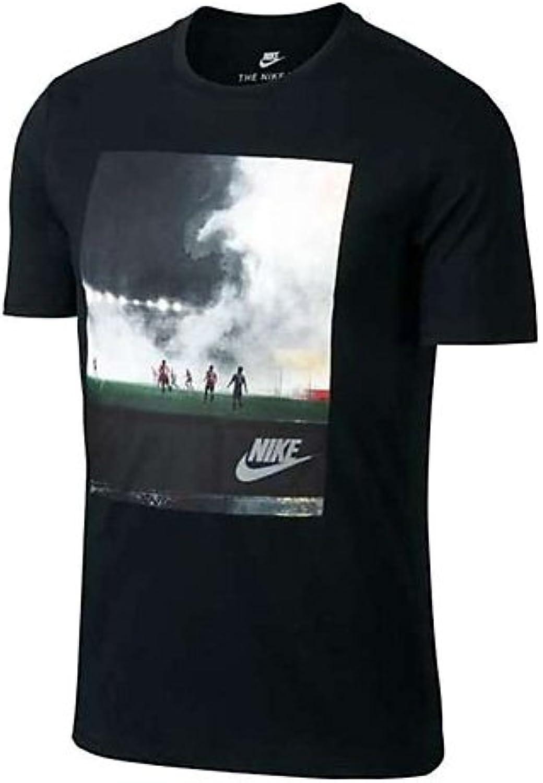 Nike NSW Cncpt Blue 5 Camiseta, Hombre, Negro/Blanco, 2XL  -